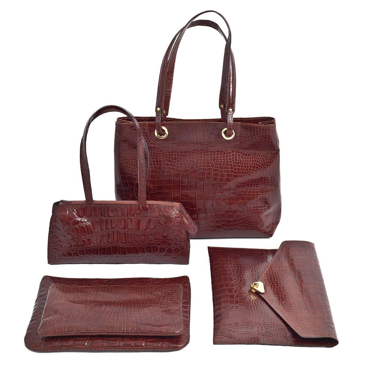 Sacs et pochettes cuir façon croco, de 49€ à 220€